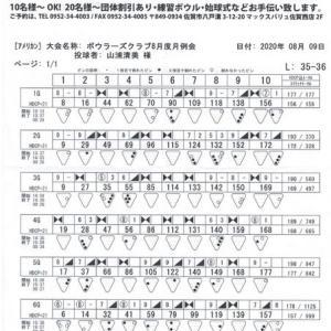 ボウラーズクラブ月例会(8月度)