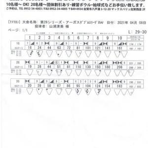 ダブルスリーグ戦(第26シーズン-第8週)