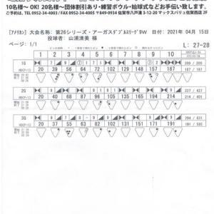 ダブルスリーグ戦(第26シーズン-第9週)