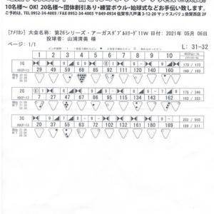 ダブルスリーグ戦(第26シーズン-第11週)