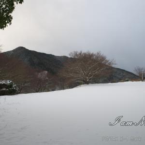 今期初です・・・積雪!