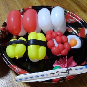 バルーン教室後はお寿司ランチ
