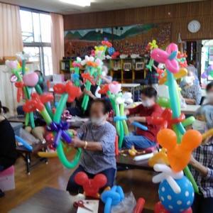 敬老の日に花束を バルーン教室