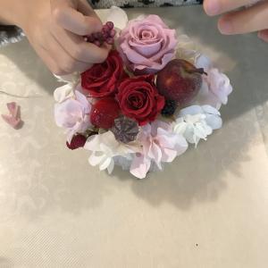 可愛い香港人姉妹のフラワーケーキレッスン