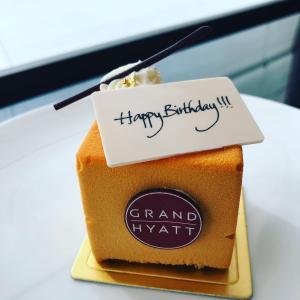 Grand Hyatt でちょっと早いお誕生日のお祝い