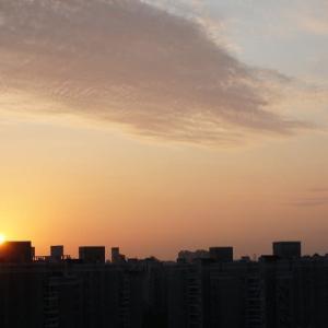きれいな朝日