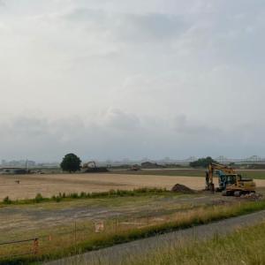 河川公園の堆積土砂の撤去(その後)