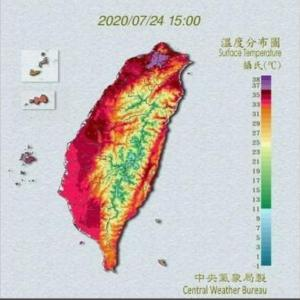 日本はまだ梅雨空、台湾では39度の熱波