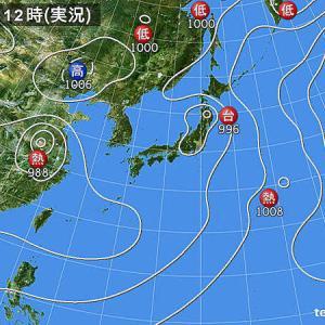 台風8号は低気圧に変わったけれど