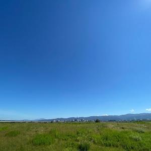 秋の空、青い空