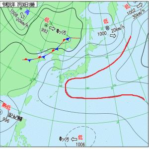 今週末に向けて太平洋高気圧が強まります