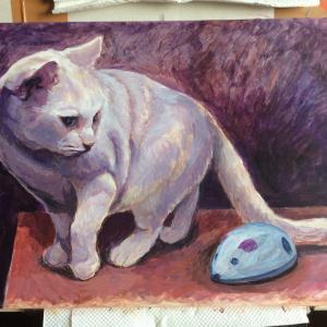 おっとりネコちゃん描き始めました(その2)