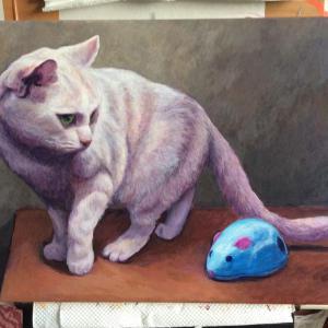 おっとりネコちゃん描き始めました(その4)
