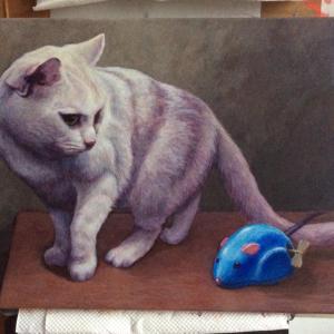 おっとりネコちゃん描き始めました(その5)