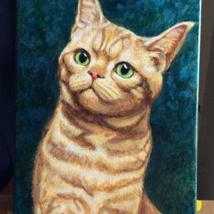 ジンジャー猫ちゃん描き始めました(その2)