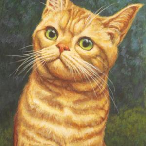 ジンジャー猫ちゃん描き始めました(その3・完成)
