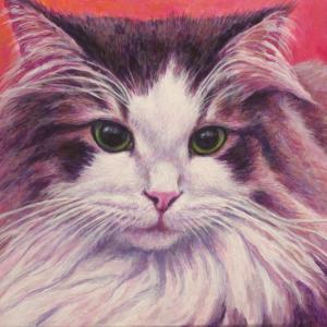 ノルウェージャン美少女猫、描き始めました(その4・完成)