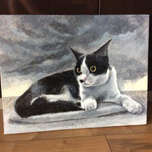 びっくり子猫ちゃん描き始めました(その1)