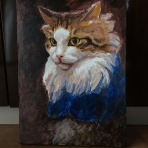 ノルウェージャン貴公子ネコ描き始めました(その1)