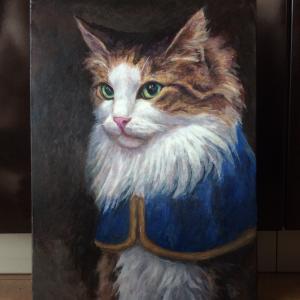 ノルウェージャン貴公子ネコ描き始めました(その2)