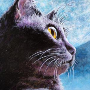 ハロウィーン向け黒猫ちゃん描きました