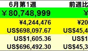 残り472万円】投資状況 2020年6月第1週