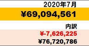 月末最高額更新!!】2020年7月資産状況
