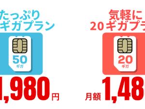 【4/30まで!】20GBで月1,480円、縛り無し!FUJI Wi-FiのデータSIMが凄すぎ