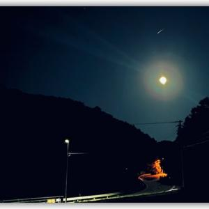 多和から見えた十五夜お月様