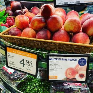 《プチ情報•ᴥ•》甘くておいしい桃が旬