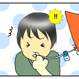 幼稚園に入って初めて鼻吸い器を使った息子