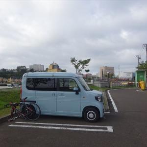 2021北海道6輪車中泊旅10日目(釧路湿原サイクリングと丹頂鶴観察)