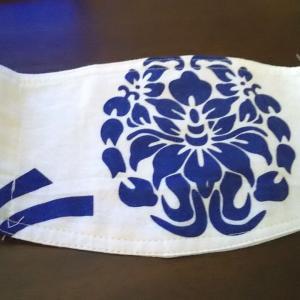コロナ感染防御・神社からの頂戴品でマスク!