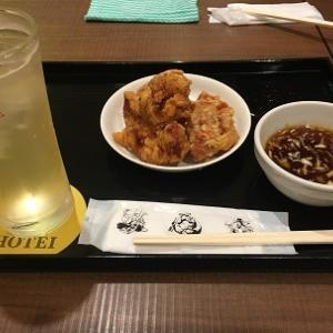 札幌赤レンガテラスのバルテラスでザンギを食べてちょっと一杯☆