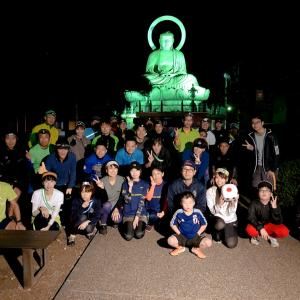 夜のグループランニング