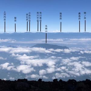 富士山から見えた山の名前