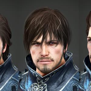 男性用、新しい髪型