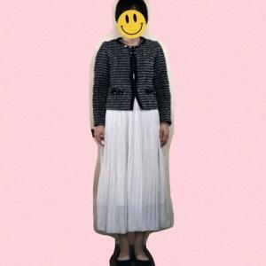 西友のビンテージ風プリーツスカートをキレイめに着てみた。♩