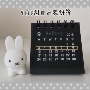 【9月】3週目の家計簿公開と馬鹿にできないチリツモ貯金