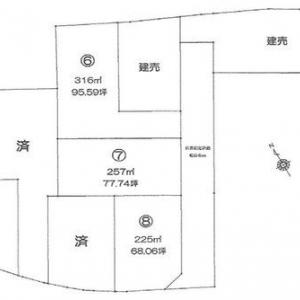 売り土地  高崎市上中居町 建築条件なしの分譲地(3区画)