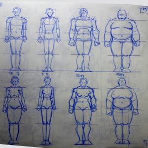 マンガ人体61:男女体形:標準、ヤセ、筋肉、肥満(らしさ)