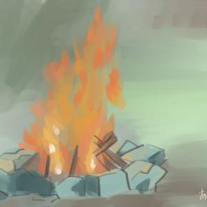 カラー04:炎の光
