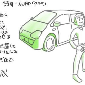 マンガ人体2・作画諸注意07:空間(人と物)