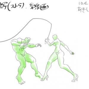 マンガ人体・線画化17ムチアニメ:摸写・スト5