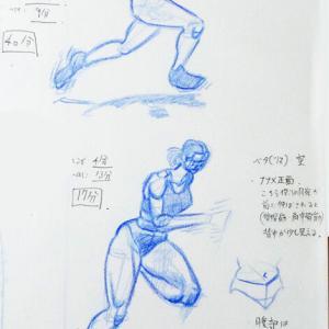 人体素描119:走る(斜め正面):70分