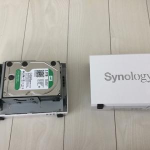 NASのハードディスク破損(synology 215J)保証体制は大事だ。