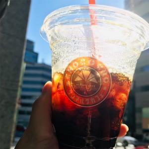 残暑厳しく、アイスコーヒーが美味しい!