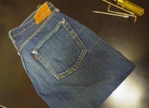 旧マッコイ (JOE McCOY)  大戦モデル 裾の折り返しの上部 修理