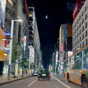 夜の青空と遠回りのドライブ。