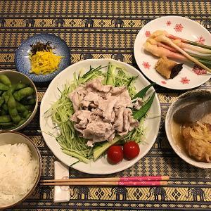 またまた「冷しゃぶ」に、夏らしく「谷中生姜」を付けて!